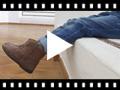 Video from Bottines Fille en cuir et tresse latérale
