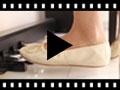 Video from Ballerines fille et femme en cuir métallisé