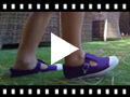 Video from Tennis en Toile pour Garçon avec Bout Renforcé en Caoutchouc – Style Salomé