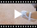Video from Chaussures Babies à Velcro en Cuir Nappa et Cuir Suédé Brillant