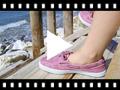 Video from Chaussures Bateau en Toile avec Semelle Blanche