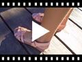 Video from Sandales Compensées avec Semelle en Gel