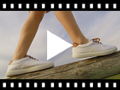 Video from Baskets textile Contrast avec lacets
