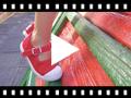 Video from Tennis en Toile pour Fille - Fermeture à Boucle et Bout Renforcé