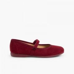 Chaussures fille en serratex avec à scratch Bordeaux