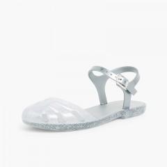 Sandales Plastique pour fille Mara junior Argent