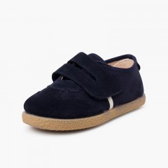 Chaussures pour garçon avec fermeture à l'avant avec sangle adhérente Bleu marine
