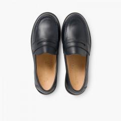 Chaussures d'école Garçon Mocassins Bleu marine