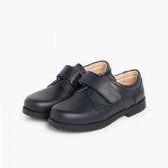 Chaussures d'école avec à scratch pour Garçon  Bleu marine