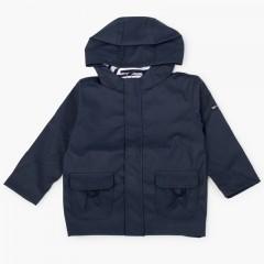 Imperméable pour garçon avec poches zippées Bleu marine