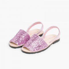 Sandales Avarcas Glitter Fille & Femme Rose