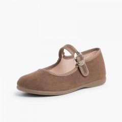 Chaussures Babies Bamara à Boucle Taupe