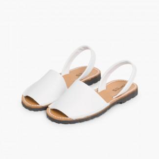 Sandales Avarcas en cuir nappa Blanc