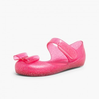 Babies en Caoutchouc avec à scratch – Modèle Mia Lazo Glitter Fushia