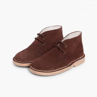 Desert Boots Bottines Chukka à Lacets Enfants et Adultes Marron