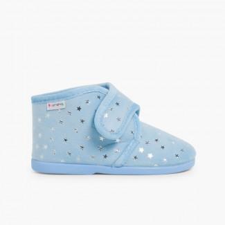 Pantoufles confortables pour enfant avec étoiles brillantes Ciel clair