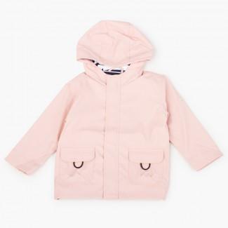 Imperméable pour garçon avec poches zippées Rose Pâle