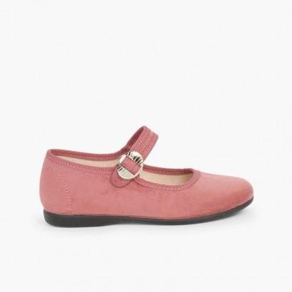 Chaussures Babies Bamara à Boucle Rose