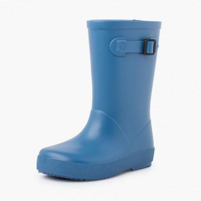 Bottes de pluie à boucle pastel Bleu
