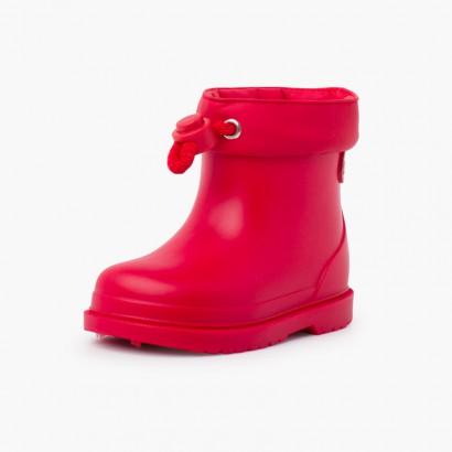 Bottes de Pluie pour tout-petits couleurs pastel Rouge