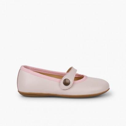 Chaussures de cérémonie en cuir  Rose