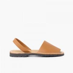 Sandales Avarcas en cuir nappa Couleur Cuir