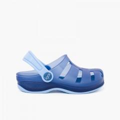 Sabots Plage et Piscine Surfi pour enfants Bleu marine