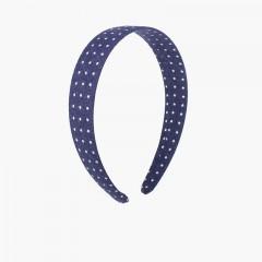 Serre-tête en tissu petites étoiles Bleu marine