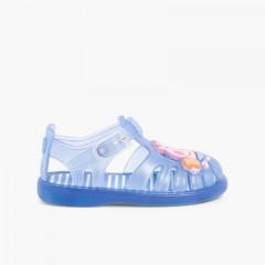 Sandales Plage Garçon/Fille George Pig Bleu
