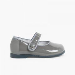 Chaussures à boucle Fille Cuir Verni Velcro