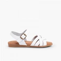 Sandales avec Semelle en Gel Blanc
