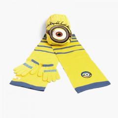 Pack: bonnet, écharpe et gants pour enfants Disney  Minions