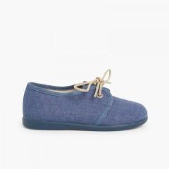 1 Chaussures Blucher garçon en toile
