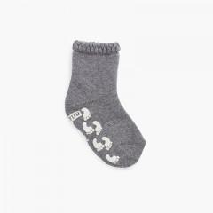 Chaussettes antidérapantes avec impression de poignets en relief Gris