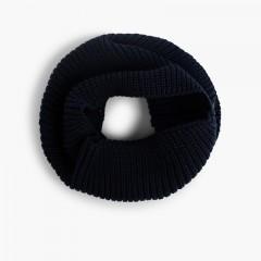 Écharpe tour de cou tricotée  Bleu marine