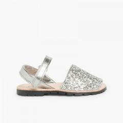 Sandale Avarca Glitter à scratch Argent