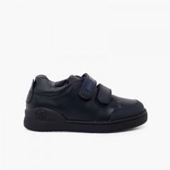 Chaussures collégiales Biomecanics avec bandes adhérentes Bleu marine