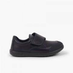 Chaussure d'écolier lavable avec embout renforcé  Bleu marine