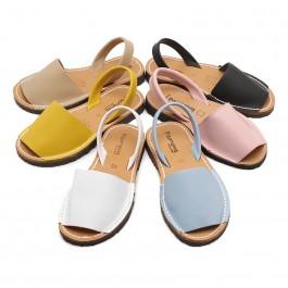Sandales Avarcas en cuir nappa
