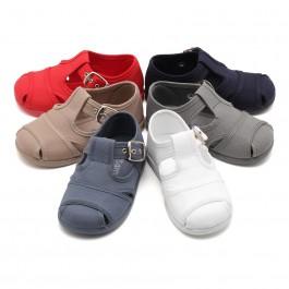 Salomés style sandales en toile