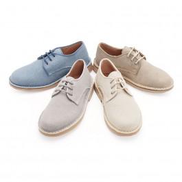Chaussures Blucher avec Tissu Canvas - Garçon & Homme