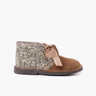 Bottes Glitter Fille  Taupe