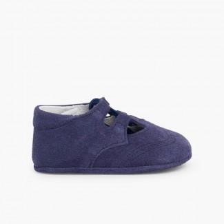 Chaussures Anglaises en Suède Bleu moyen
