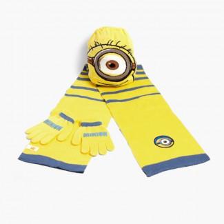 Pack: bonnet écharpe et gants pour enfants Disney  Minions