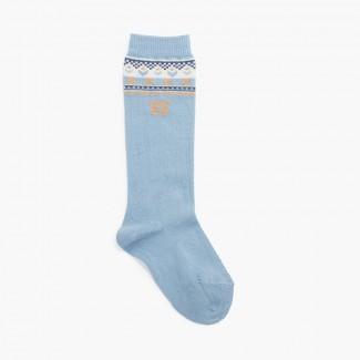 Ours chaussettes hautes Bleu