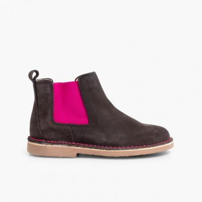 Chelsea Boots Fille Femme avec Elastique Coloré