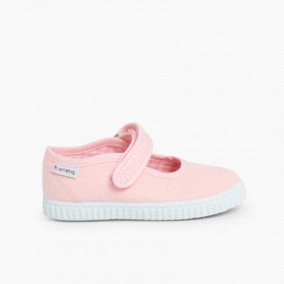 Chaussures Babies Fille à scratch style basket Rose