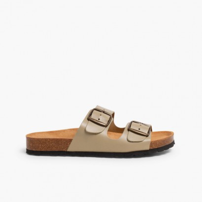 Sandales Bio à Boucle pour Garçon Beige