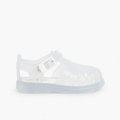 Sandales Plastique enfants de couleur unie Blanc