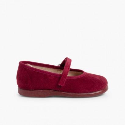 Chaussures à boucle et à scratch Bamara  Bordeaux